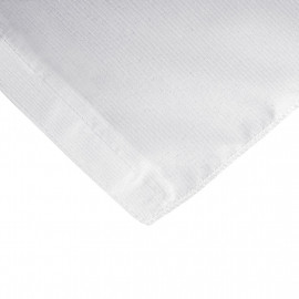 Fitted 6 ft. Slit Open Back Table cloth trade Show Dj Table Cover White 2/Pack