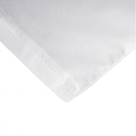 Fitted Rectangular 8 ft. Table cloth with Pleated Corners White 2/Pack