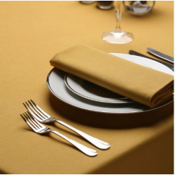Seamless Commercial Grade Hemmed Table cloths Gold Color