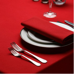 Seamless Commercial Grade Hemmed Table cloths Red Color