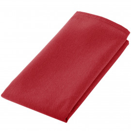 "Table Napkins Spun Polyester w/ hemmed edge 20""x 20"" Red Pack of 12"