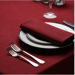 Seamless Commercial Grade Hemmed Table cloths Maroon Color
