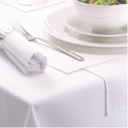 Seamless Commercial Grade Hemmed Table cloths White Color