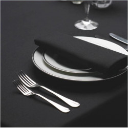 Seamless Commercial Grade Hemmed Table cloths Black Color