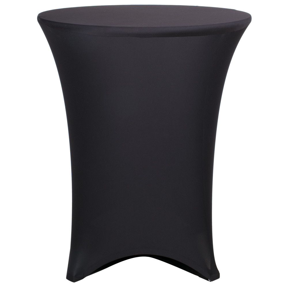 Spandex Stretch Fitted Cocktail Table Cloth 36 Wide Black