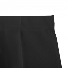 Table Skirts 100% Polyester 14 ft./17 ft. Pleated Black
