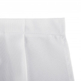 Table Skirts 100% Polyester 14 ft./17 ft. Pleated White