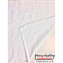 Gold+Cross Economical Terry Cotton Face Towels  12x12 wt. 0.75 lbs/dz. White 12/Pack