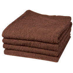 Adonis Standard Full Terry Ring Spun 100% Cotton Hospitality Towels Brown Color