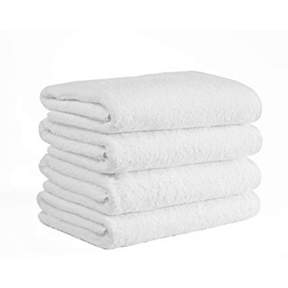 Adonis Full Terry Ring Spun Cotton Bath Towels 44x22 wt. 6.0 lbs/dz. White 6/Pack