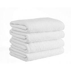 Adonis Standard Full Terry Ring Spun 100% Cotton Hospitality Towels White Color