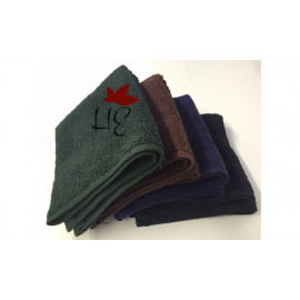 Bath Towels Solid Dark Colored Full Terry Cotton 54x27 wt. 14.0 lbs Navy 6/Pack
