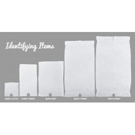 Adonis Terry 100% Ring spun cotton standard  Hospitality Towels set White