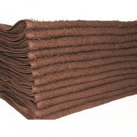 Beauty Salon Towels Economical Solid Colored Hand Towels 28x16 wt. 3.50 lbs/Dz. Brown 12/Pack