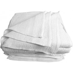 Gold+Cross Economical Terry 100% Cotton Light Weight Towels White Color