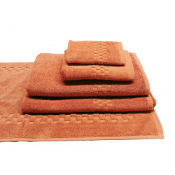 Jacquard Premium 100% Combed Cotton Hand Towels 32x16 wt. 6.00 lbs/dz. Coral 6/Pack