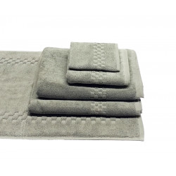 Jacquard Premium 100% Combed Cotton Hand Towels 32x16 wt. 6.00 lbs/dz. Dove Grey 6/Pack