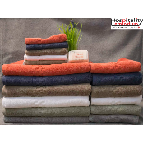 Jacquard Premium 100% Combed Cotton Bath Towels 54x27 wt. 17.0 lbs/dz. Sage 6/Pack