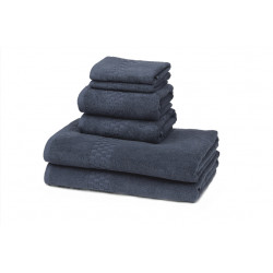 Jacquard Premium 100% Combed Cotton Hospitality Towels Abyss Color
