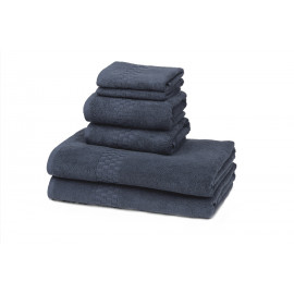 Jacquard Premium 100% Combed Cotton Hospitality Towels Set Abyss color
