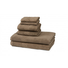 Jacquard Premium 100% Combed Cotton Hospitality Towels Set Tuscan Earth color