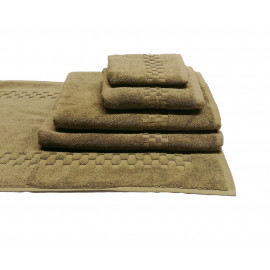 Jacquard Premium 100% Combed Cotton Hand Towels 32x16 wt. 6.00 lbs/dz. Tuscan Earth 6/Pack