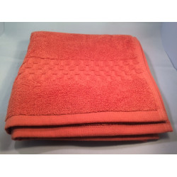 Jacquard Premium 100% Combed Cotton Hand Towels 32x16 wt. 6.00 lbs/dz. Coral 12/Pack