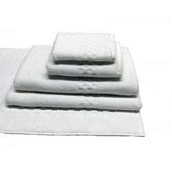 Jacquard Premium 100% Combed Cotton Hand Towels 32x16 wt. 6.00 lbs/dz. White 12/Pack