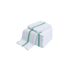 Pool Towels White with Center Stripe 48x24 wt. 8.00 lbs 6/Pack