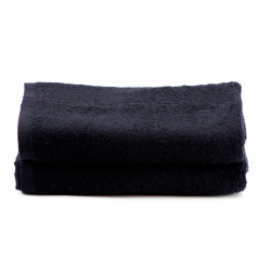 Beauty Salon Towels Premium Velour Plush Solid Colored Hand Towels 26x16 wt. 3.00 lbs/dz. Black 6/Pack