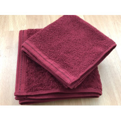 Zen 100% Certified Organic Cotton Hand Towels 28x16 wt. 4.00 lbs Lava 12/Pack