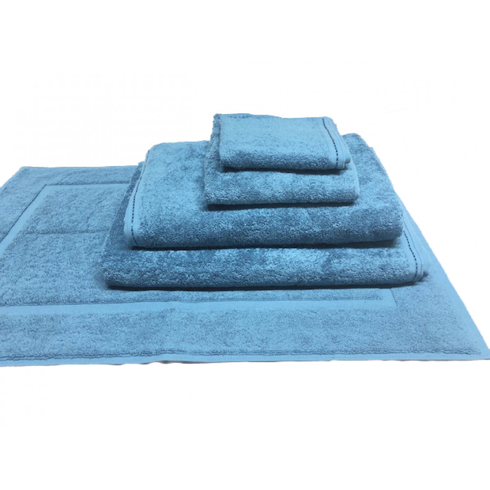 Zen 100% Certified Organic Cotton Hand Towels 30x16 wt. 4.00 lbs Ocean Blue 4/Pack
