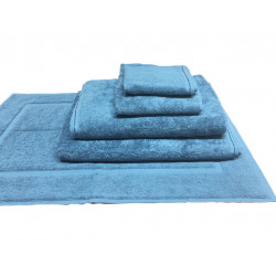 Zen 100% Certified Organic Cotton 5 star hospitality towels Ocean Blue color