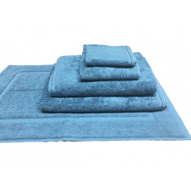 Zen 100% Certified Organic Cotton Face Towels 13x13 wt.1.40 lbs/dz Ocean Blue. 12/Pack