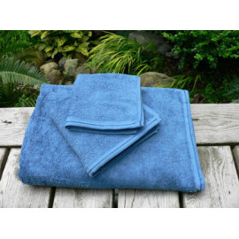 Zen Organic cotton 100% certified Luxury Super soft Hospitality Towels Set Blue color