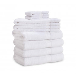 Dolly Luxury 100% Cotton w/ Dobby Border 5 Star Hospitality Towels White Color