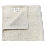 Dolly Economical Terry cotton w/ Cam border Hand Towels 20x40 wt. 5.0 lbs/dz. White 12/Pack