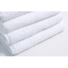 Dolly Terry Velour Cotton Bath Sheets 57x27 wt. 13.5 lbs/dz. White 6/Pack