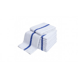 Pool Towels White with Center Stripe 44x22 wt. 6.00 lbs 12 /Pack