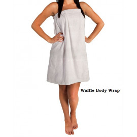 Women's Spa Waffle Shower Bath Towel Wrap Unisex Size White 2/Pack