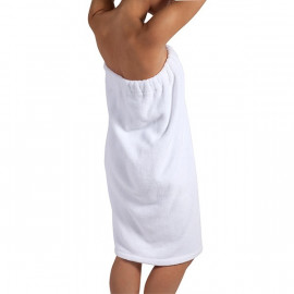 Women's Spa Fleece Shower Bath Body Wrap Unisex Size White 2/Pack
