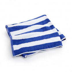 Pool Towels 100% Ringspun Cotton Cabana Towels 50x25 wt 10.50 lbs/dz. white Blue Stripes 12/Pack