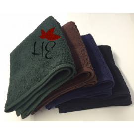 Adonis Full Terry Ring Spun Cotton Hand Towels 28x16 wt. 3.50 lbs/dz. Forest Green 12/Pack