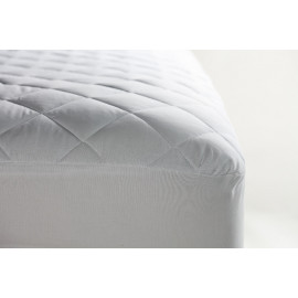 "Contour Premium Mattress Pads/Topper Queen size 60""x 80"" x 15"" Fitted Elastic Finish White 2/Pack"