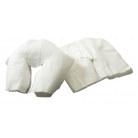 Spa Flannel 100% Cotton Face Rest Covers Flat White 3/Pack