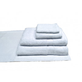 White 100/% Cotton Dobby Border Set of 6 Solid Color Terry Wash Cloths