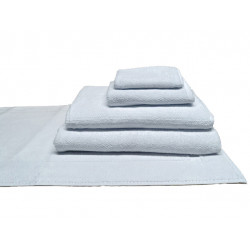 Shangri-La Series™ 100% Cotton Double Stitched Hems 5 Star Hospitality Towels White Color