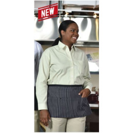 """Waist Apron Extra long Ties  23""""W X 12""""L w/ 3 Pockets Poly/Cotton 6/Pack"""