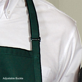 "Premium Short Bib Aprons Adjustable neck strap 27""W X 24""L Poly/Cotton Multi-color 6/Pack"