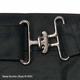 "Coin Apron 4 Pockets, Metal Buckle, 16""W X 10""L Black 6/Pack"